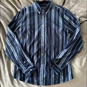 Slate & Stone Blue-Striped shirt